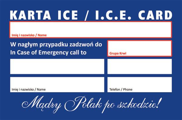 Karty I C E In Case Of Emergency Czyli W Naglym Wypadku